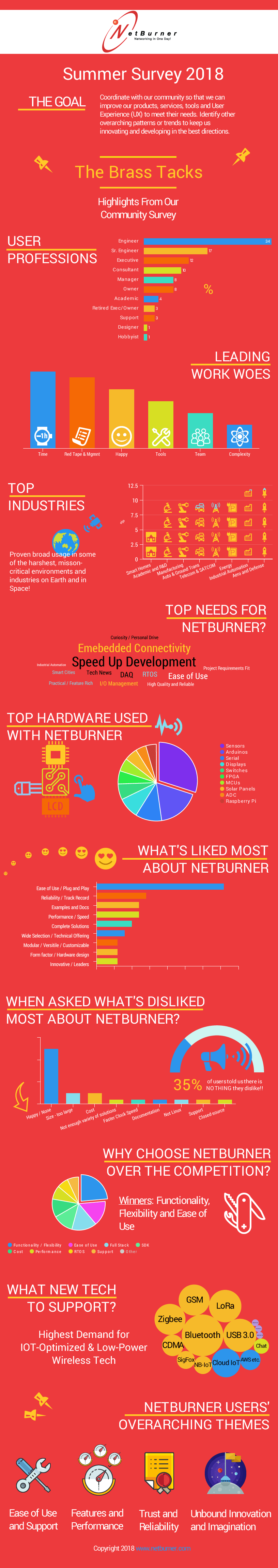 Infographic NetBurner IOT User Survey